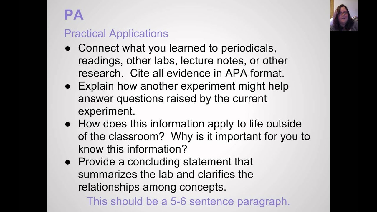 how to write a scientific conclusion for a lab report