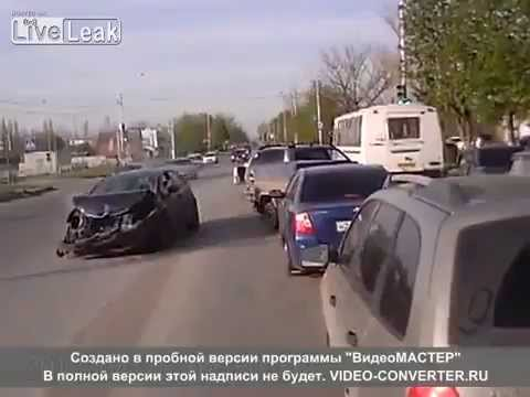 Oversteering or overdrinking- Russian hit and run.
