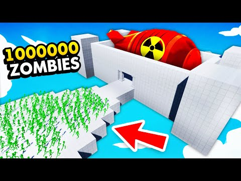 1,000,000 ZOMBIES vs SKY HIGH NUKE FACTORY (Fun With Ragdolls: The Game Funny Gameplay)
