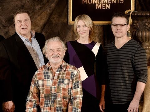 Matt Damon, Bill Murray, John Goodman, and Cate Blanchett Talk 'The Monuments Men'