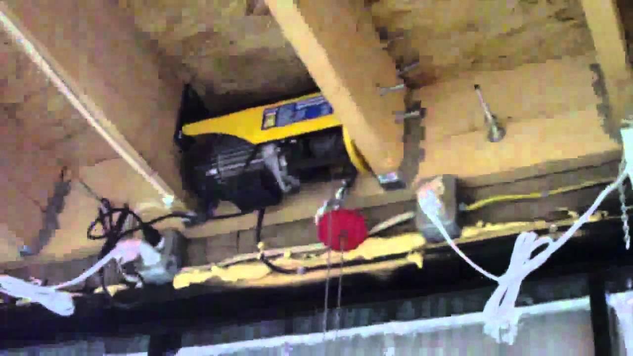 Rons Projects Horizontal Bifold Garage Door Youtube