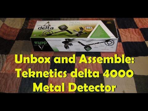 Unbox and Assemble: Teknetics delta 4000 Metal Detector
