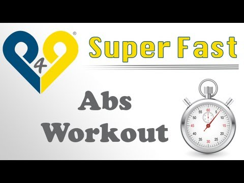 Super Fast Abs Workout - Level 1 (Music Version)