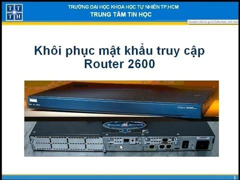 Khôi phục mật khẩu Router 2600