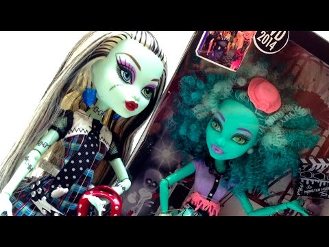 Monster High Dolls Mattel Dolls Frankie Stein Barbie Doll Toys Review Монстър Хай