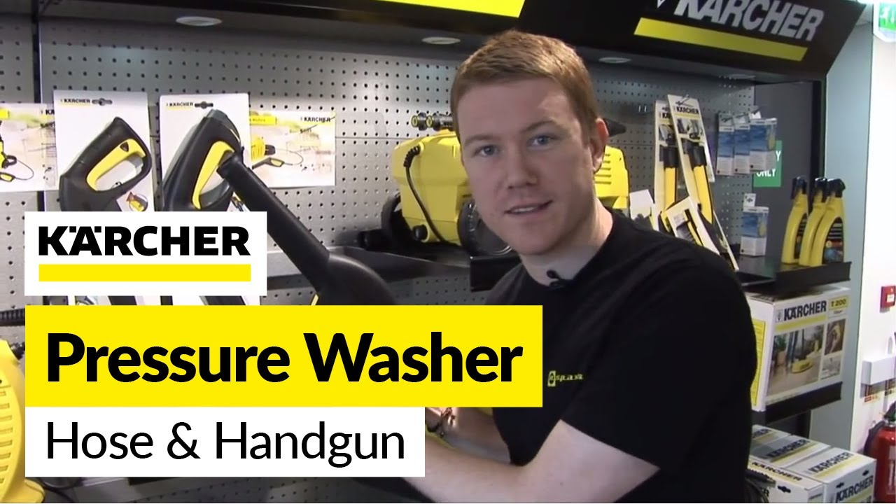 How To Replace A Karcher Hose And Handgun On A Karcher