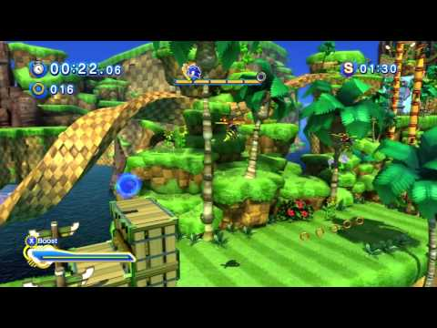 "Sonic Generations (360) - Green Hill: Act 2: ""Tails: Way Past Fast"" Playthrough (S-Rank)"