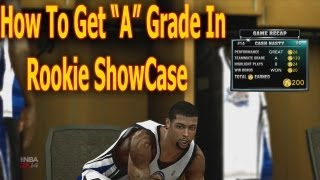 "Nba 2k14 How To Get ""A"" Grade In Rookie ShowCase To Get In"