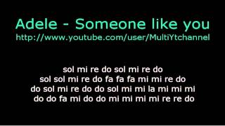 Someone Like You Flauta Dulce Notas Partitura Adele