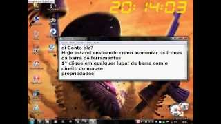 Como Aumentar O ícones Da Barra De Ferramentas No Windows 7.
