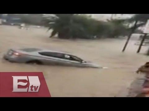 ¡¡IMPRESIONANTE!! Lluvia provoca severa inundación en Monterrey