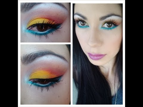 maquillaje colorido (colorful makeup)