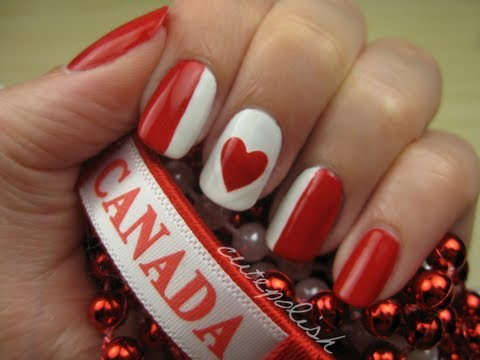 Canada Day Nails, 4th of July Nails (USA) will be uploaded on Monday, July 2nd! FROM A DIFFERENT COUNTRY? Create YOUR national flag on your nails and share it on facebook.com/...