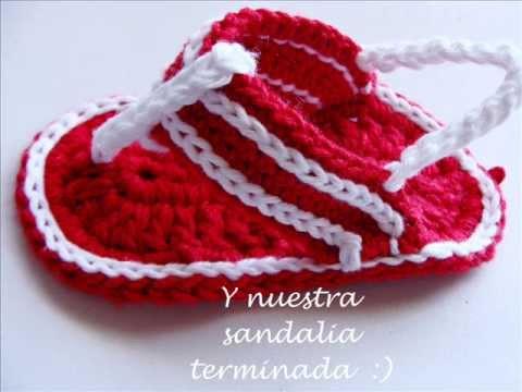 Tutorial para hacer sandalias de niña tejidas - Imagui