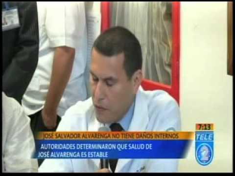 José Salvador Alvarenga no tiene daños internos