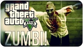 O ZUMBI DESCOLADO!! GTA V [EASTER EGG] #3