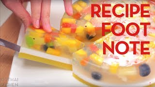 Recipe Footnote: Agar Agar Fruit Cake - Hot Thai Kitchen!