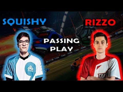 SQUISHY Y RIZZO PASSING PLAY! - Rocket League (Best Saves, Goals, Passing plays)
