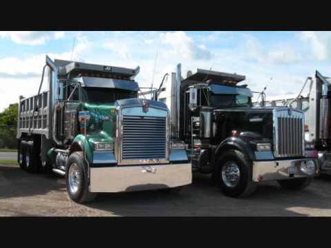 Kenworth W-900 Peterbilt357 loud Jake Brakes, Train Horns, Loud convoy chrome Truck