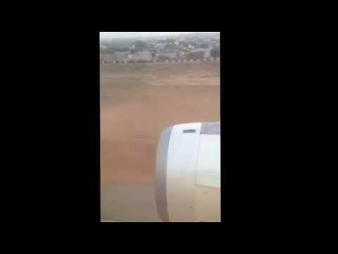 Etihad Airways EY208 from Abu Dhabi landing at Jaipur International Airport