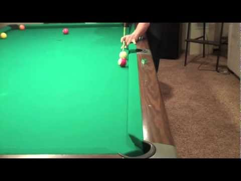 Billiard Lessons - Follow the Cue Practice Shot * Practice *