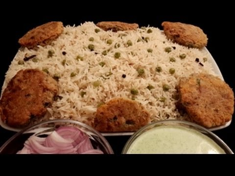 Peas Pulao With Mint Yoghurt in Urdu/Hindi by Azra Salim