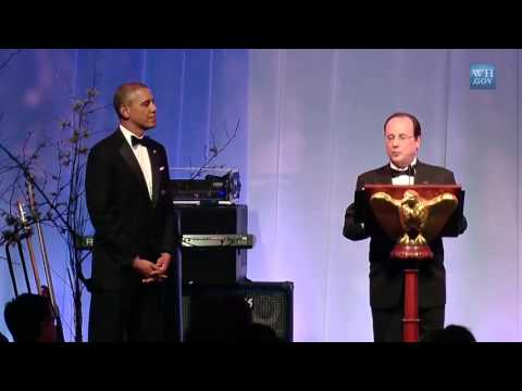 Hollande in USA : President Obama Toasts President Hollande at the France State Dinner