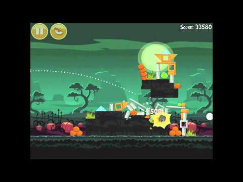 Angry Birds Seasons Ham'o'ween 2-8 Halloween 2012 Hamoween Walkthrough 3 Star