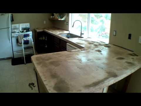 Custom Concrete Counter Tops Start to Finish Part #2