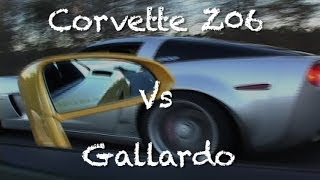 Stock Corvette Z06 Vs Gallardo With Tubi Exhaust