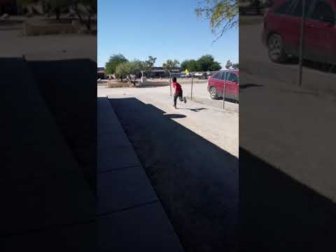 Funny kid falls while running
