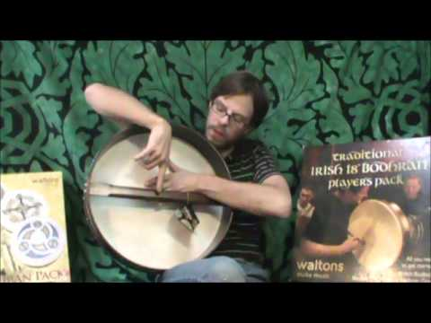 "Waltons Bodhran 18"" Chase Celtic with Book, Bag & Tipper"