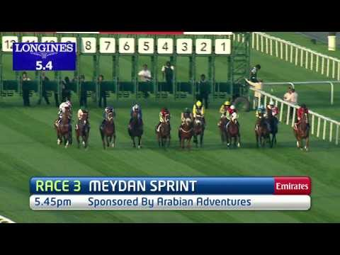 Vidéo de la course PMU MEYDAN SPRINT SPONSORED BY ARABIAN ADVENTURES