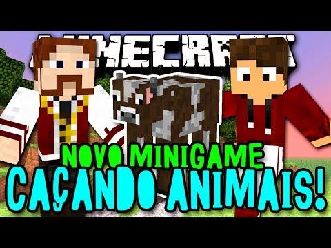 CAÇANDO ANIMAIS! - O LUGIN É UM ANIMAL! HAHAH xD (c/ Lugin) - Minecraft (Novo)