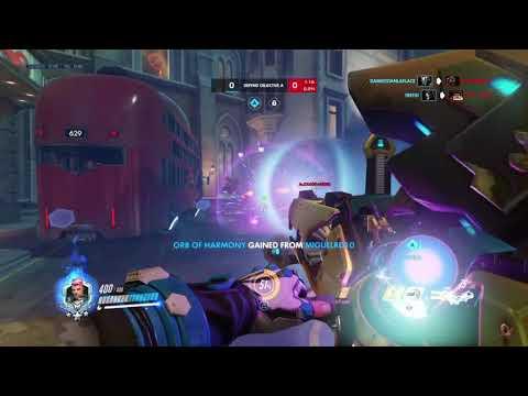 Overwatch - king of kings row zarya gameplay - 4 golds 0 deaths