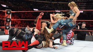 Nia Jax, Natalya, Banks, Bayley & Ember Moon vs. Bliss, James & Riott Squad: Raw, April 24, 2018