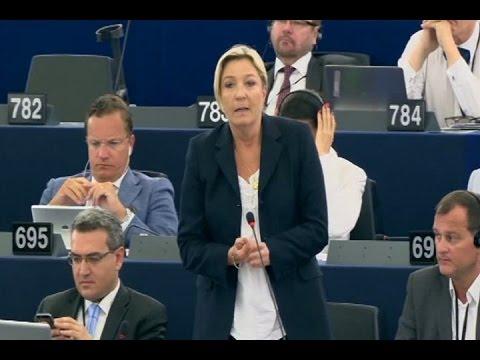 Marine Le Pen vote contre Juncker