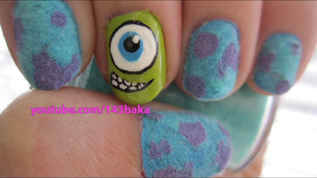 Monsters Inc Nail Designs