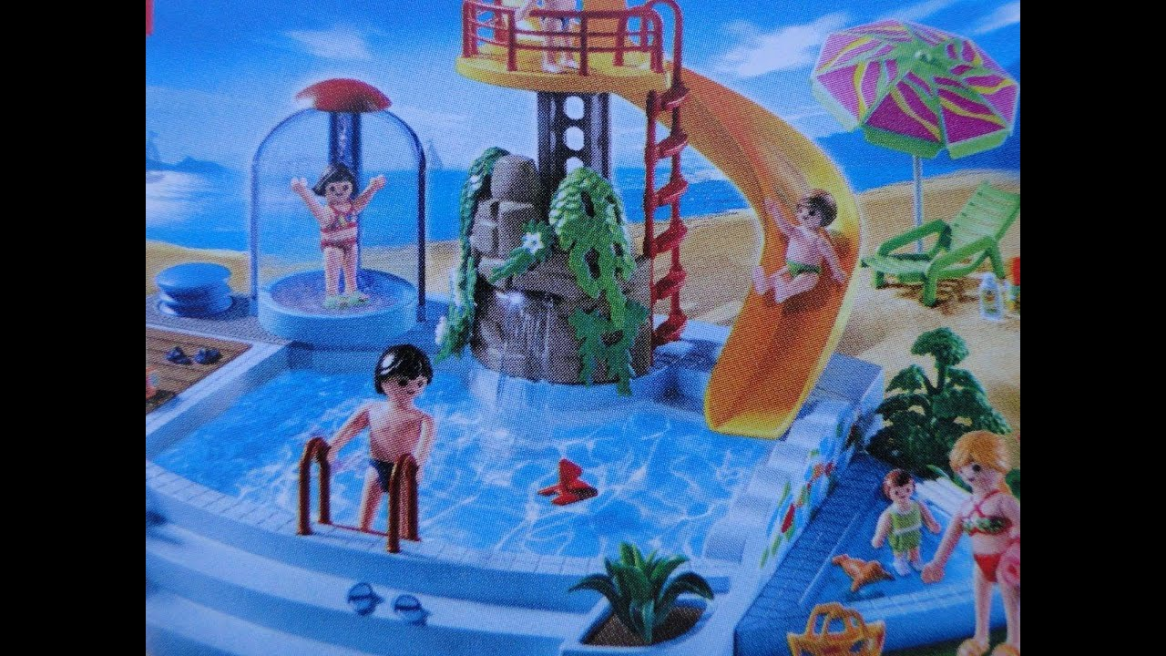 Playmobil pool piscine freibad 4858 demo youtube for Piscine playmobil