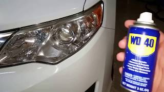 Headlight Restoration Using WD-40