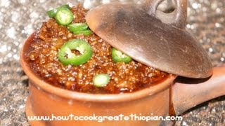 How To Cook minced doro wot ምንቸት ዶሮ ወጥ