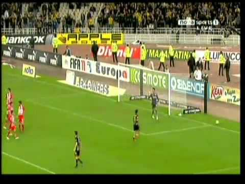 AEK vs Olympiakos 1 - 0 ( 27 / 11 / 2010 -  Goals & Highlights )