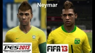 PES 2013 Vs FIFA 13 Face Comparison BRASIL (National Team