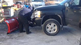 Western HTS Snow Plow Installed On '09 Chevy 1500