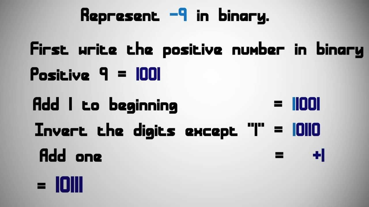 how to add negative binary numbers