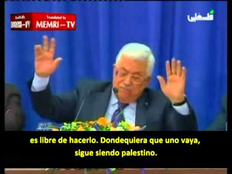 Mahmoud Abbas explica claramente la postura palestina (marzo 2014)