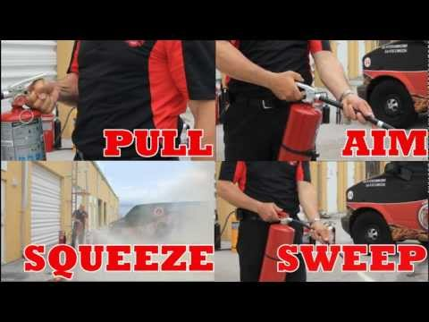 FLORIDA FIRE SAFETY - How to Use a Portable Fire Extinguisher Training Video