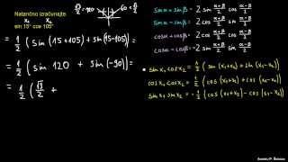 Defaktorizacija trigonometričnih izrazov – naloga 3