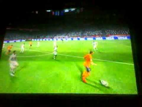 Van der vaart's amazing goal in the world cup