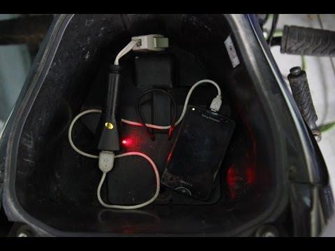Cách làm bộ sạc smartphone dùng với xe máy